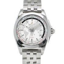 Breitling Galactic Unitime pre-owned 44mm White Steel