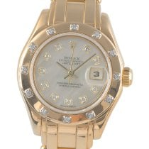 Rolex Lady-Datejust Pearlmaster Yellow gold 29mm Mother of pearl