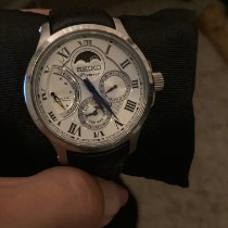 Seiko Premier Kinetic Direct Drive Staal 41mm Zilver Romeins