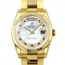 Rolex (ロレックス) デイデイト 36 新品 自動巻き 正規のボックスと正規の書類付属の時計 118238MR