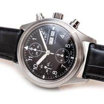 IWC Pilot Chronograph Acier 39mm Noir Arabes France, Paris