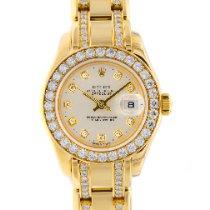 Rolex Lady-Datejust Pearlmaster подержанные 29mm Перламутровый Дата Желтое золото