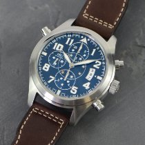IWC Pilot Double Chronograph Steel 44mm Blue Arabic numerals
