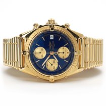 Breitling Yellow gold Automatic Blue No numerals 40mm pre-owned Chronomat