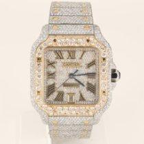Cartier Santos (submodel) Gold/Steel 39.8mm Silver Roman numerals United States of America, Missouri, Columbia