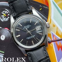 Rolex Oyster Perpetual Date Steel 35mm Black No numerals
