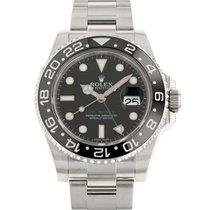 Rolex (ロレックス) GMT マスター II 中古 40mm ブラック GMT /第2タイムジーン ステンレス