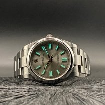 Rolex Oyster Perpetual Steel 41mm Silver No numerals