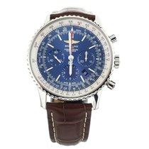 Breitling Navitimer 01 (46 MM) подержанные 46mm Синий Дата GMT/две час.зоны Кожа аллигатора
