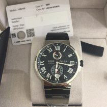 Ulysse Nardin Marine Chronometer Manufacture Сталь Черный Римские