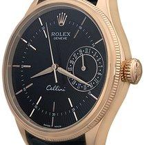 Rolex Cellini Date Rose gold 39mm Black No numerals