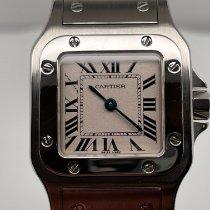 Cartier Santos Galbée Сталь 26.2mm Cеребро Римские