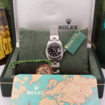Rolex Oyster Perpetual Lady Date Acero 26mm Negro Sin cifras