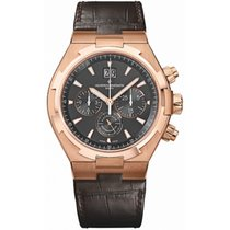 Vacheron Constantin Rose gold Automatic Brown No numerals 42.5mm new Overseas Chronograph