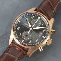 IWC Red gold Automatic Grey Arabic numerals 43mm new Pilot Spitfire Chronograph