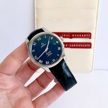 Omega De Ville Co-Axial pre-owned 41mm Blue Date Calf skin