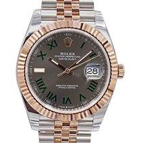 Rolex Datejust II Gold/Stahl 41mm Grau Keine Ziffern Schweiz, Lugano