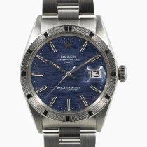 Rolex Oyster Perpetual Date Acciaio 34mm Blu