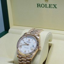 Rolex Day-Date 40 pre-owned 40mm White Date Rose gold
