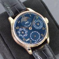 IWC Portuguese Perpetual Calendar Rose gold 44mm Blue Arabic numerals