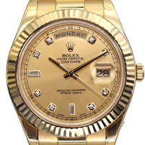 Rolex Day-Date II Aur galben 41mm De culoarea şampaniei
