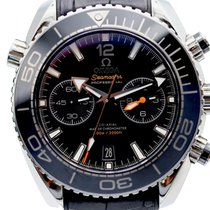 Omega Seamaster Planet Ocean Chronograph Çelik 45mm Siyah