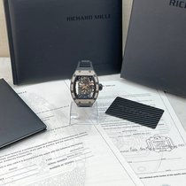 Richard Mille RM 055 Red gold 49.9mm Transparent No numerals