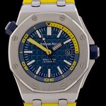 Audemars Piguet Royal Oak Offshore Diver gebraucht 42mm Blau Datum Kautschuk