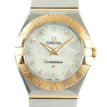 Omega Constellation Quartz Золото/Cталь 27mm Перламутровый