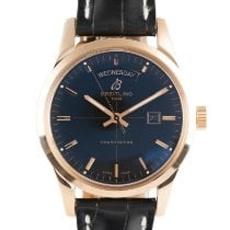 Breitling Transocean Day & Date Red gold 43mm Black