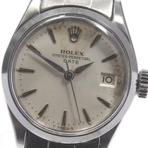 Rolex Oyster Perpetual Lady Date Сталь 25mm Cеребро