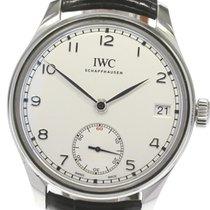 IWC Portuguese Hand-Wound Acero 43mm Plata