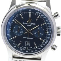 Breitling Transocean Chronograph 38 Staal 38mm Blauw