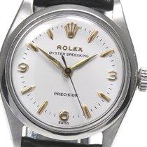 Rolex Oyster Precision Acero 30mm Blanco