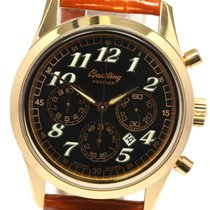 Breitling Yellow gold Automatic Black 37mm pre-owned Navitimer