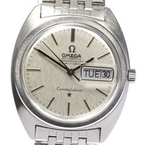 Omega Constellation Day-Date Staal 35mm Zilver