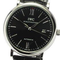 IWC Portofino Automatic подержанные 39mm Черный Сталь