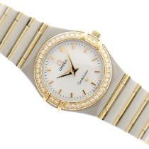 Omega Constellation Gold/Steel 25.5mm Mother of pearl No numerals