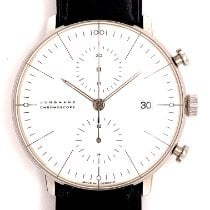 Junghans max bill Chronoscope pre-owned 40mm Grey Chronograph Date Leather