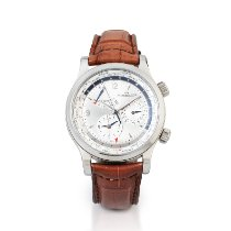 Jaeger-LeCoultre Geophysic Universal Time Steel 41mm Silver United States of America, New York, New York