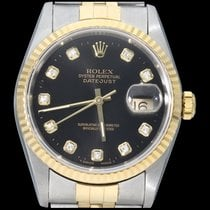 Rolex Datejust Gold/Steel 36mm Black No numerals