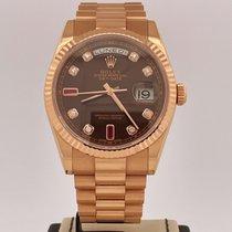 Rolex Day-Date 36 Or rose 36mm Brun Belgique, Antwerpen