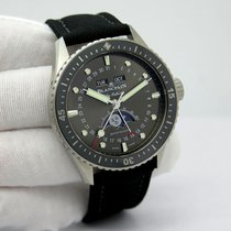 Blancpain Fifty Fathoms Bathyscaphe pre-owned 43mm Grey Moon phase Date Weekday Month Textile