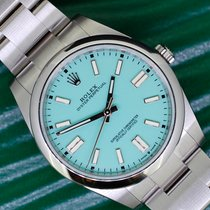 Rolex Oyster Perpetual Steel 41mm Green No numerals