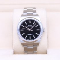 Rolex Oyster Perpetual 39 pre-owned 39mm Black Steel