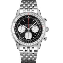 Breitling Steel Automatic Black No numerals 43mm new Navitimer 1 B01 Chronograph 43