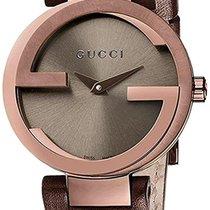 Gucci Сталь 29mm Кварцевые YA133504 новые