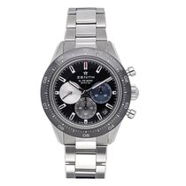 Zenith Chronomaster Sport pre-owned 41mm Black Chronograph Date Tachymeter Fold clasp