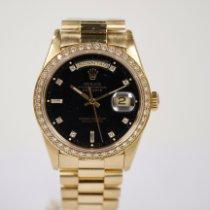 Rolex Day-Date 36 Sarı altın 36mm Siyah Rakamsız