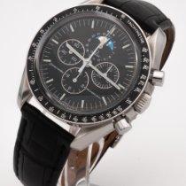Omega Speedmaster Professional Moonwatch Moonphase occasion 42mm Noir Phase lunaire Chronographe Tachymètre Acier